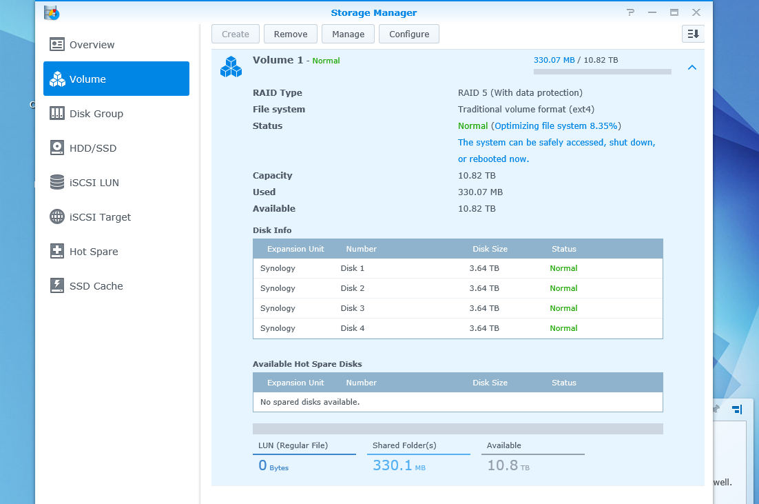 Synology DiskStation DS1515 Review > DiskStation Manager 5 2