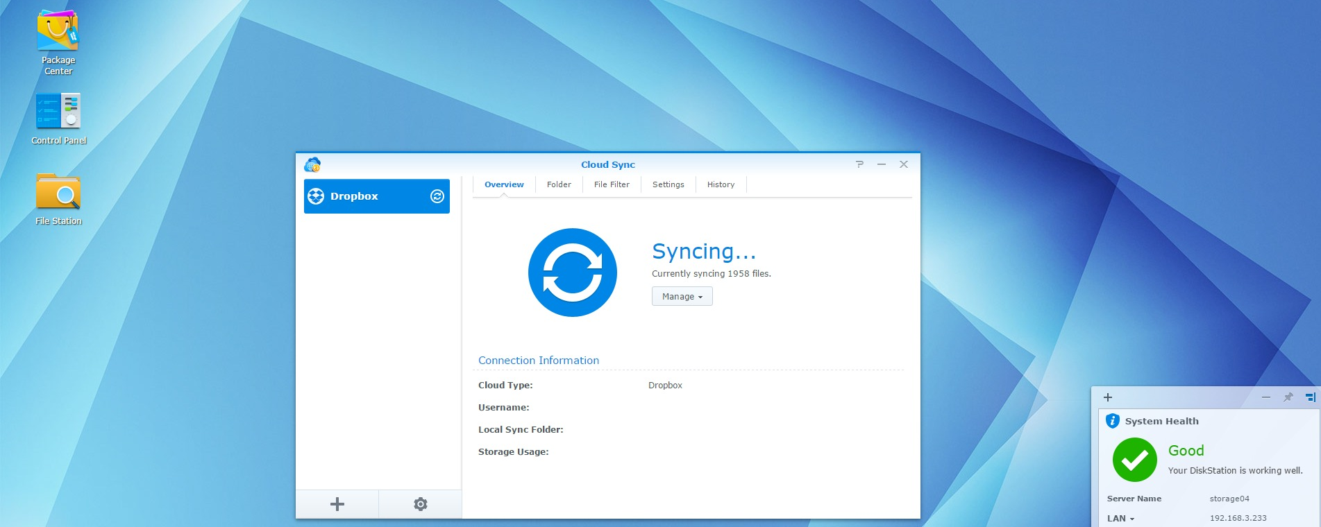 Synology DiskStation DS216+ NAS Review > DiskStation Manager 6 0