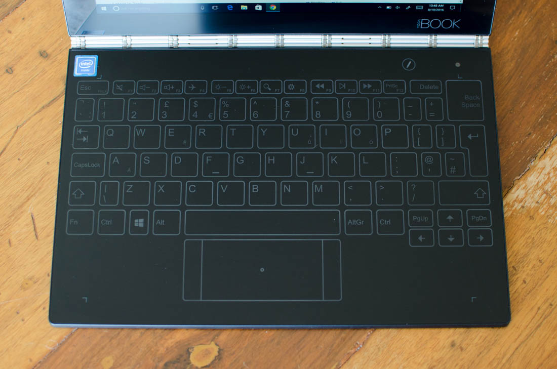 Lenovo Yoga Book Review > Display, Keyboard and Trackpad