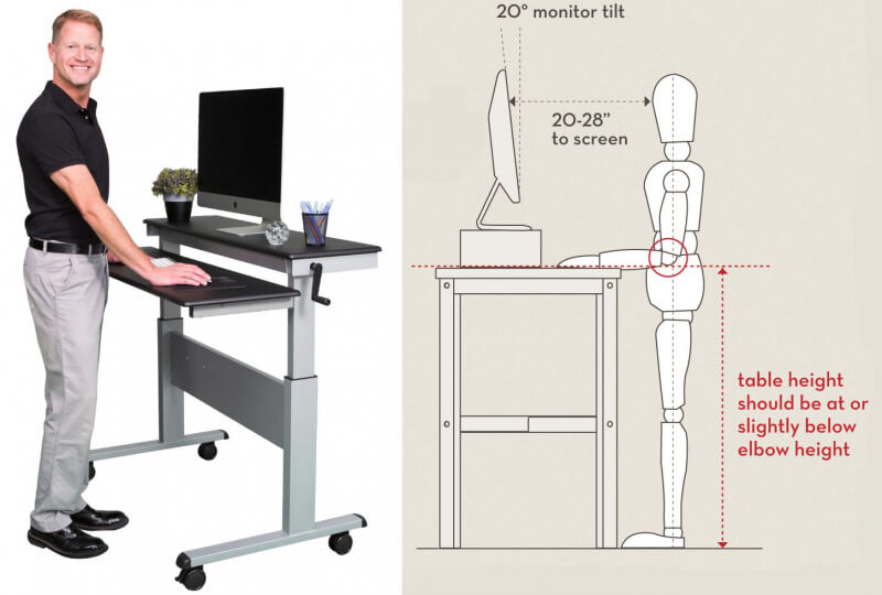 New Standing Computer Desk Decoration Ideas