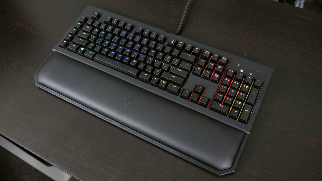 0851b8dbd51 It's for this reason that the BlackWidow Chroma V2 is the most comfortable  keyboard to use, with its padded wrist rest providing awesome support for  your ...