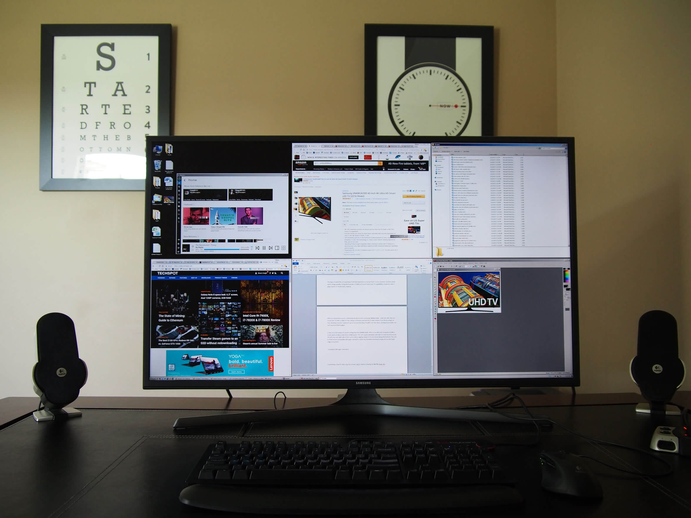 using a 4k tv as a desktop monitor techspot