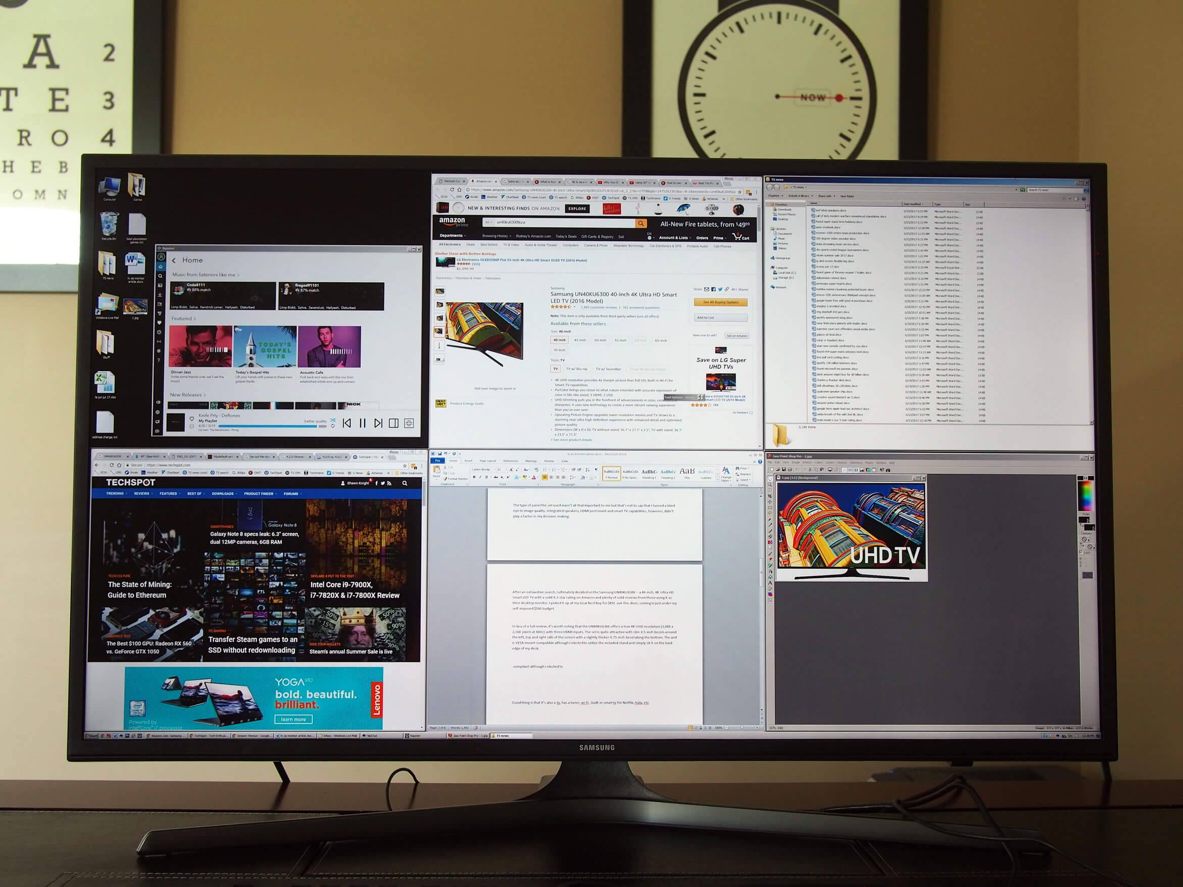 Using a 4K TV as a Desktop Monitor - TechSpot