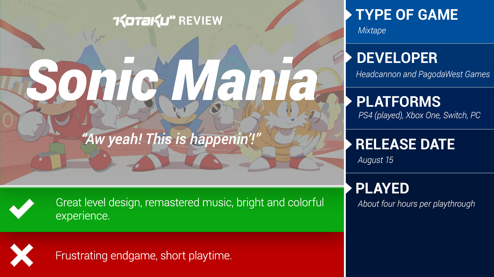 Sonic Mania Review - TechSpot
