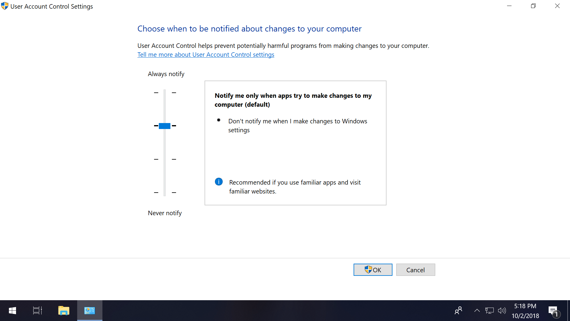 how to always have administrator privileges windows 10
