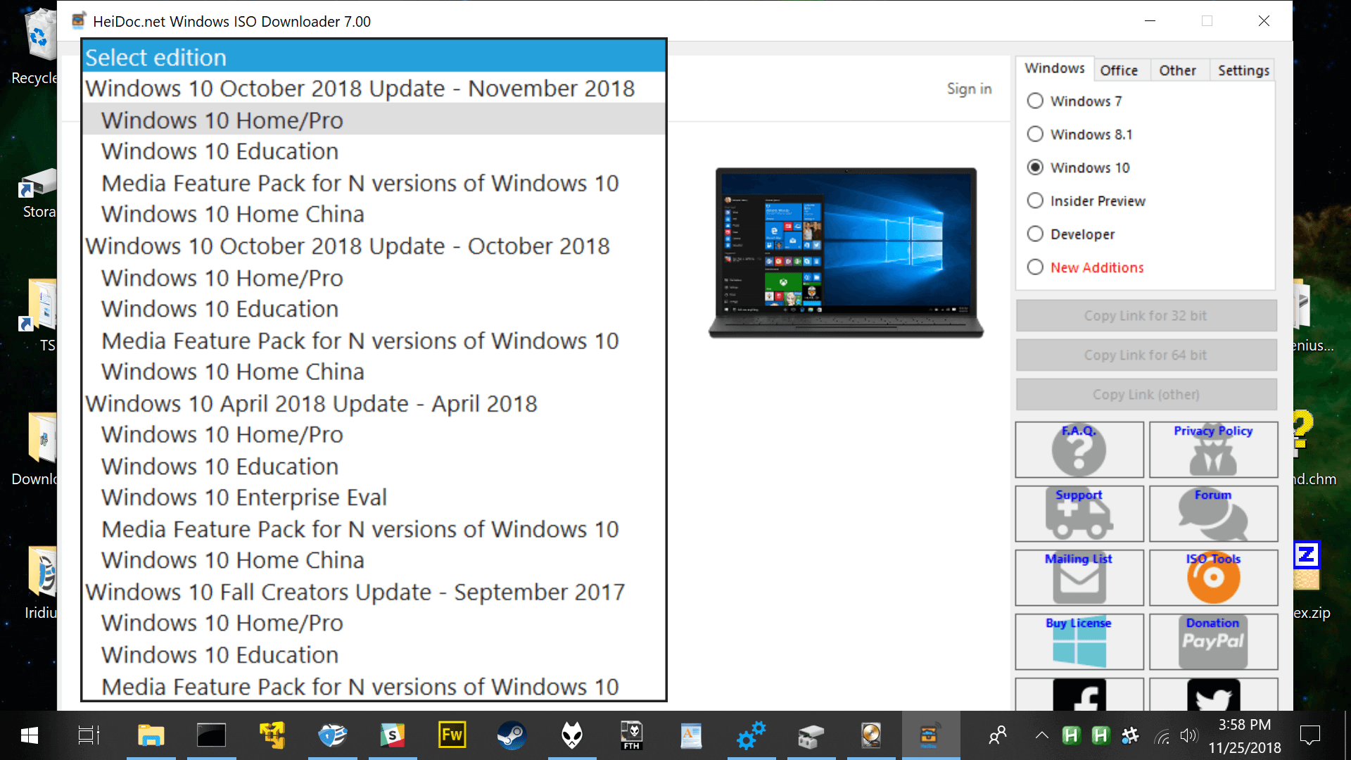 windows 10 download iso 64 bit 1809