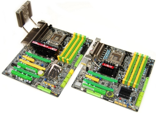 DFI LANParty UT X58-T3eH8 and JR X58-T3H6 motherboards