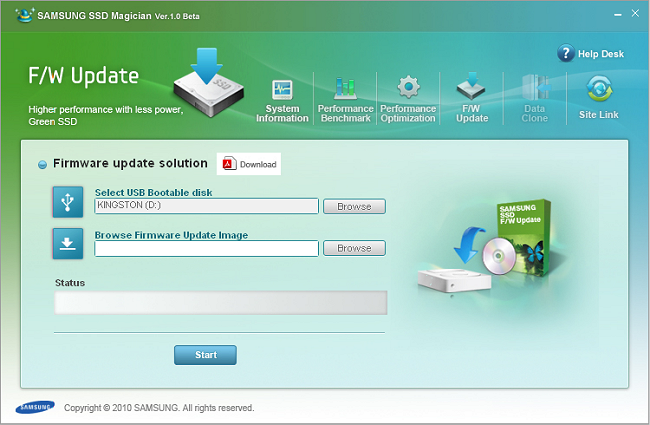 Samsung 470 Series 256GB SSD Review > Samsung SSD Magician Software