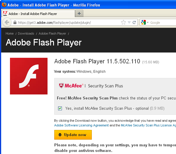 download adobe flash free for pc