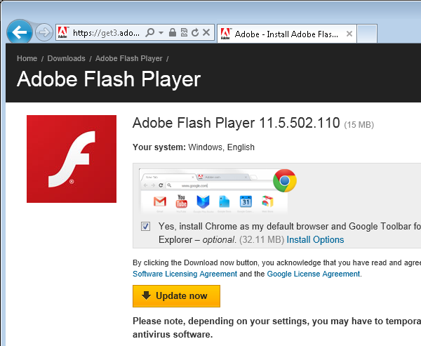 download flash player for windows 8 google chrome