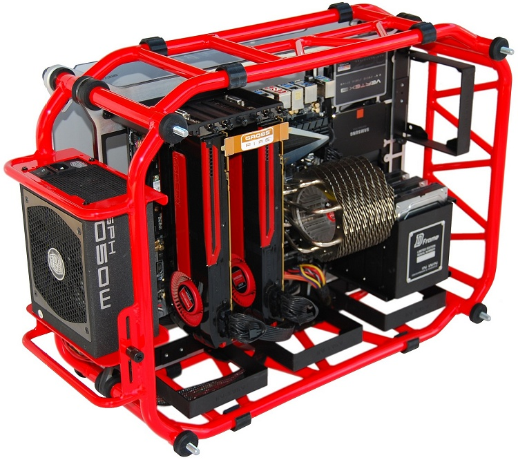 In Win D-Frame Red Case Review > Putting Stuff in the D-Frame - TechSpot