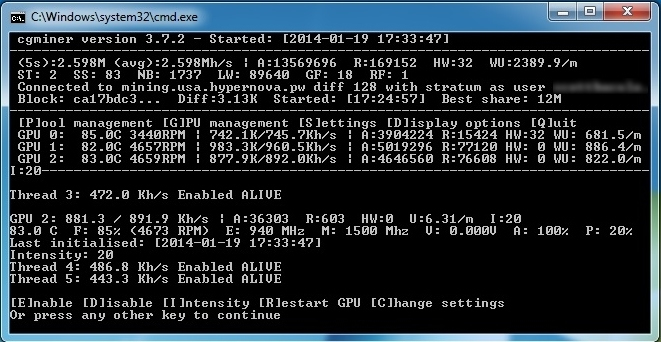Cgminer settings for litecoin