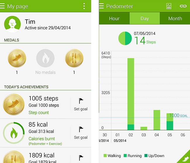 Right From The Homescreen Of S Health You Can See Your Statistics For Day Including How Many Steps Youve Taken Plus Kilocalories