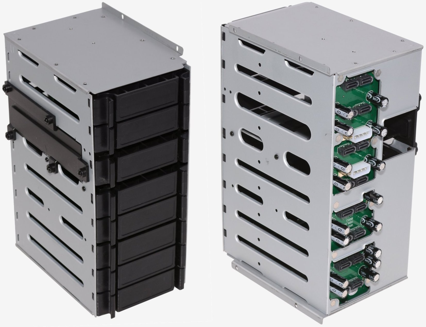 Building Your Own NAS: Silverstone DS380 Chassis Tested, Reviewed > DS380 Internals - TechSpot