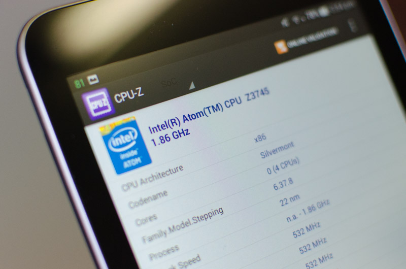 Asus MeMO Pad 7 (2014) Review: Android on x86 > Performance: Intel