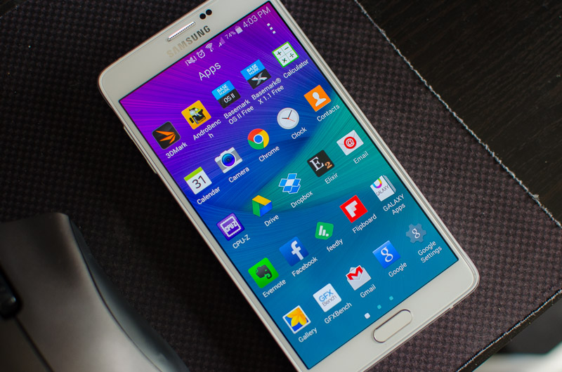 Samsung Galaxy Note 4 Review > Display: Quad HD Super AMOLED