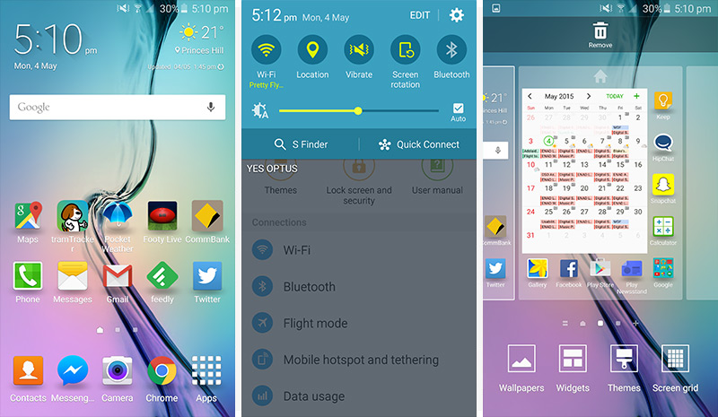 Samsung Galaxy S6 & S6 Edge Review > Software: TouchWiz