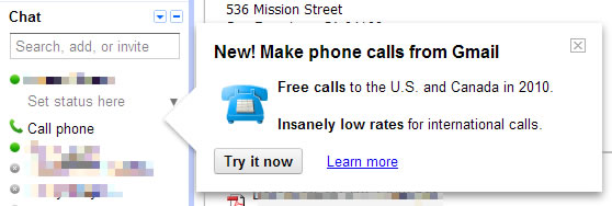 Google testing VoIP phone calls feature from Gmail [Updated