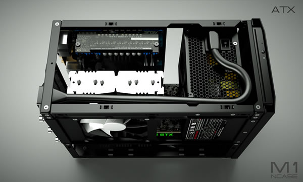 Crowdfunded NCase M1 Mini-ITX enthusiast chassis inches