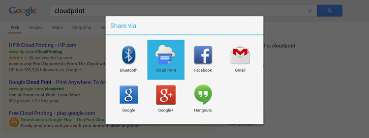 Google Cloud Print app for Android makes printing simple