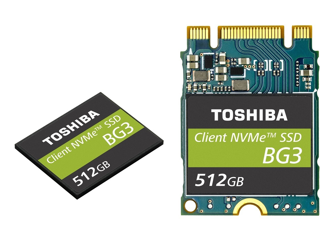 Toshiba crams 512 GB on to a 30mm M.2 card