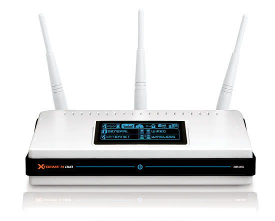 D-Link DIR-855 Xtreme N Duo Dualband Draft 802.11n Media Router