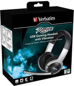 Verbatim Rapier USB Gaming Headset with Vibration 47621