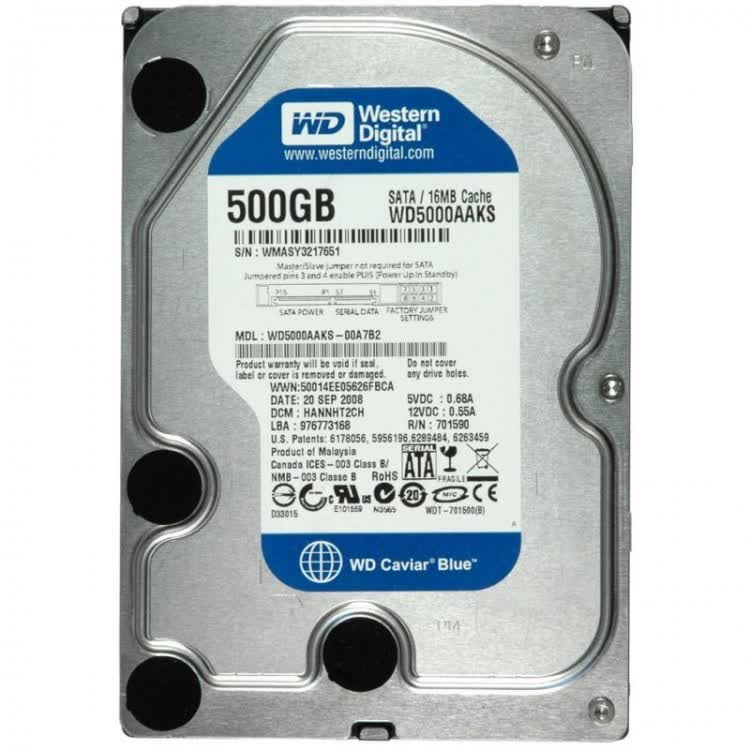 Western Digital Caviar Blue 500GB SATA300