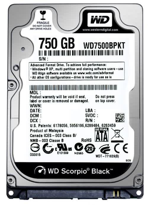 Western Digital Scorpio Black 750GB