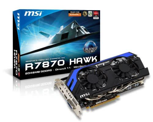 MSI Radeon HD 7870 HAWK 2GB GGDR5 PCIe