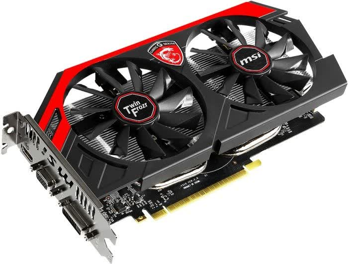 MSI GeForce GTX 750 Ti Gaming Twin Frozr OC 2GB GDDR5 PCIe