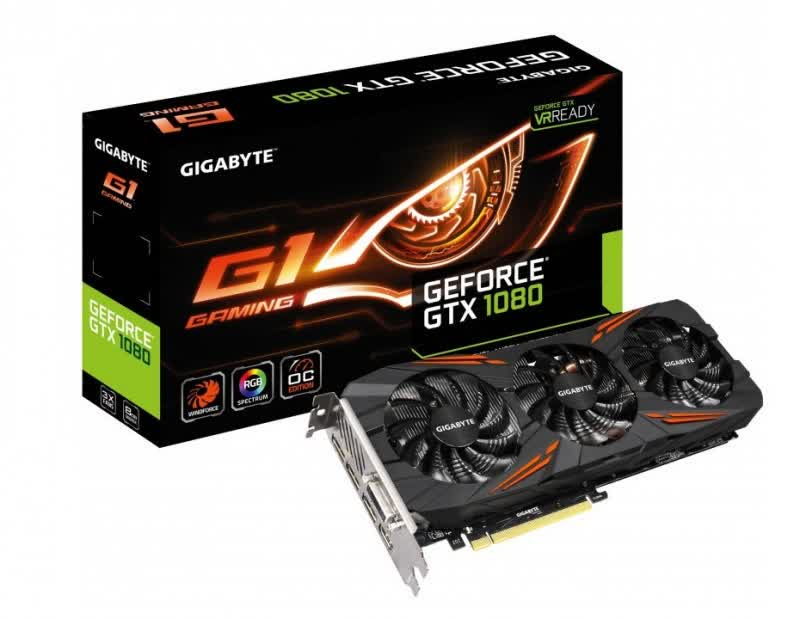 Gigabyte GeForce GTX 1080 G1 Gaming 8GB GDDR5X PCIe