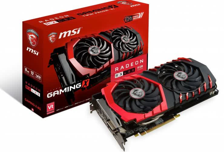 MSI Radeon RX 480 Gaming X 8GB GDDR5 PCIe