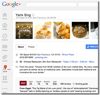 google, local, google plus, zagat, businesses, google plus local, google local, crowd-sourcing, local search, yelp, citysearch, announcements, melissa mey