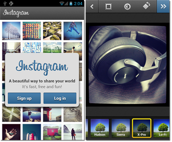 android, software, smartphone, camera, social networking, apps, instagram, releases, social med