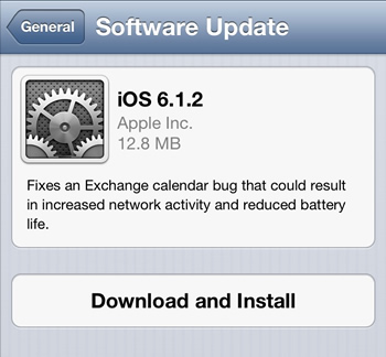 iphone, ipad, ios, exchange, firmware, jailbreak, passcode, software updates, security flaws, bugs, ios 6.1, evasi0n, ios 6.1.1, ios 6.1.2, exchange calendar bug, battery problems, ios updates