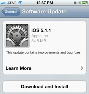 apple, iphone, ipad, ios, ipod touch, mobile os, bug fixes, security fixes, ios 5.1.1