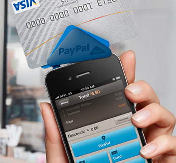 paypal, credit card, mobile payments, paypal here, square