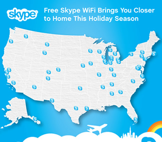 SKYPE Offering Free Holiday Wi-Fi at Major Airports