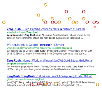 google, search, google plus, humor, zerg rush, surprises, fun, googling, easter egg
