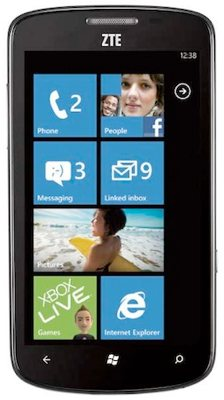 windows phone, smartphone, windows phone 7.5, zte tania, zte, tania