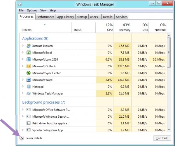 Microsoft details Windows 8 Task Manager features and layout