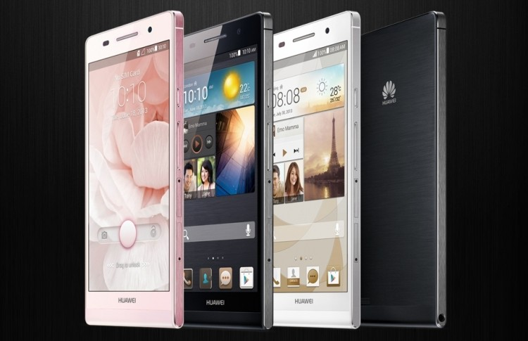 Huawei Ascend P6 smartphone is the thinnest in the world at 6.18mm