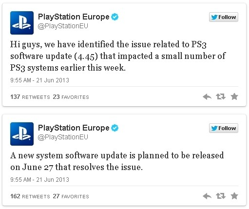 Sony: PlayStation 3 firmware fix will be ready next week