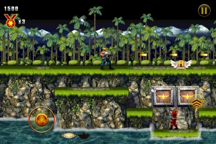 Konami's classic NES platform shooter Contra now available on iOS
