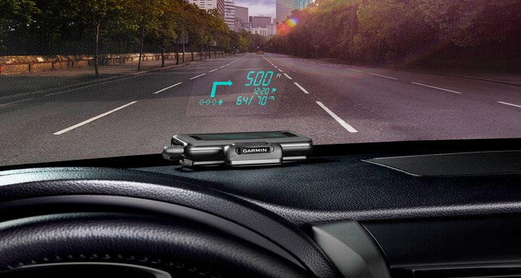 Garmin HUD displays driving directions on your car's windshield