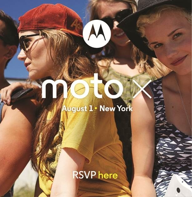 Motorola to unveil Moto X smartphone at August 1 event in New York