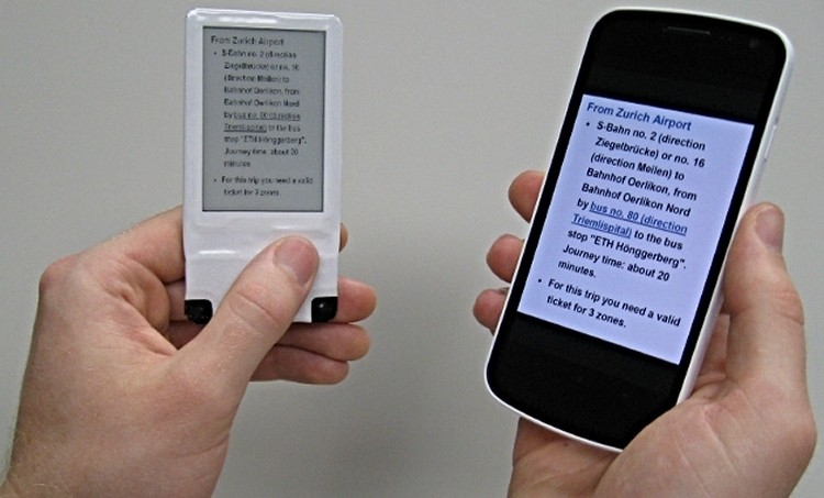 NFC technology can be used to wirelessly power an E-ink display