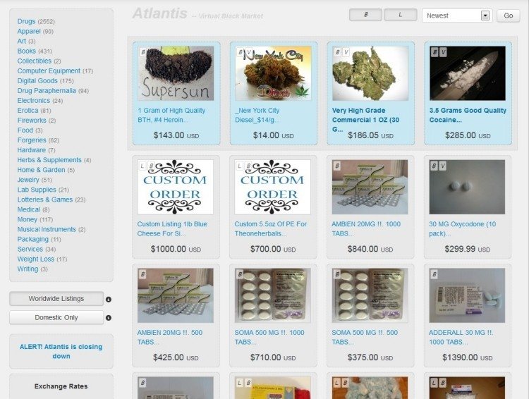 Deep Web news: Silk Road competitor Atlantis calls it quits
