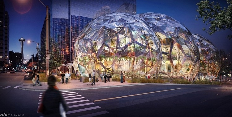 Amazon's trio of biospheres gets two thumbs up from Seattle Design Review Board